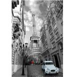 poster-paris-red-girl-blue-car