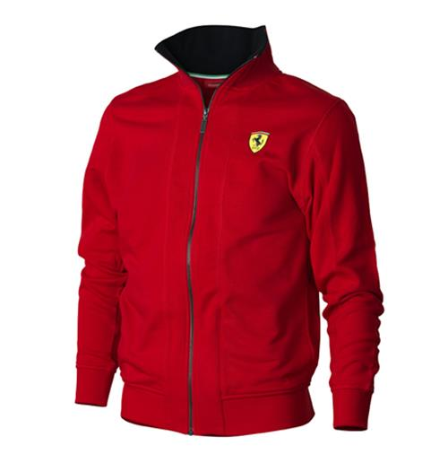 Offerta: Ferrari Mens Zipper Sweatshirt Red