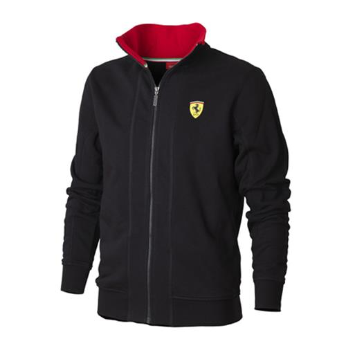 Offerta: Ferrari Mens Zipper Sweatshirt Black