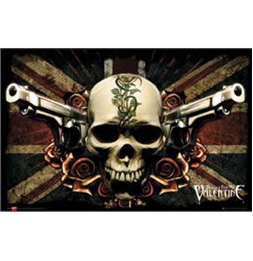 Pôster Bullet For My Valentine-Skull&Guns