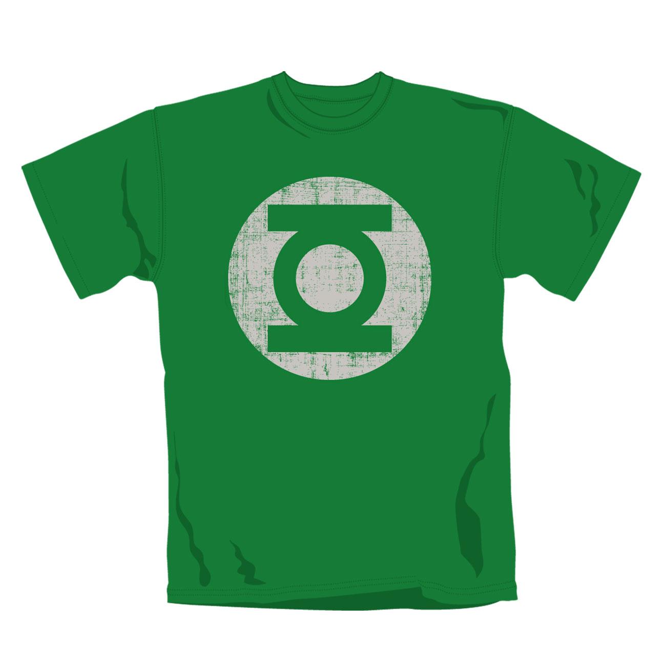 Image of T Shirt  Gl Distress Logo Green Lantern Maglia ufficiale Emi Music