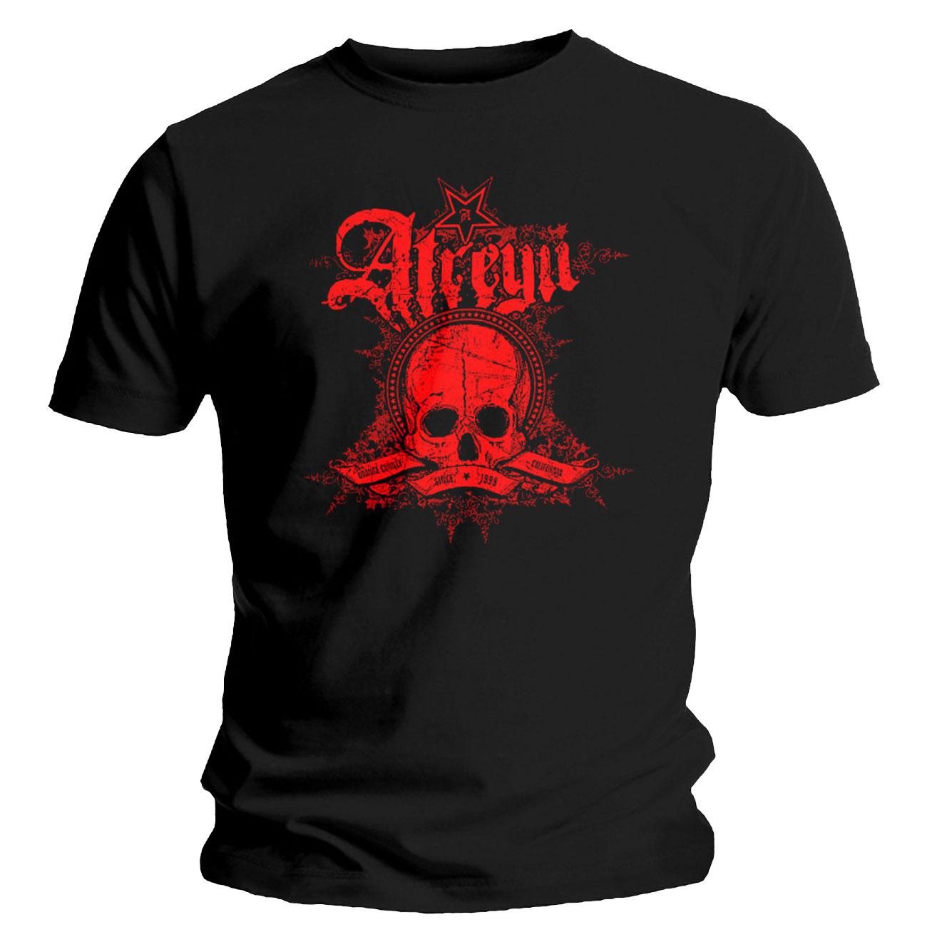 Image of T-shirt Atreyu Skully. Prodotto ufficiale Emi Music