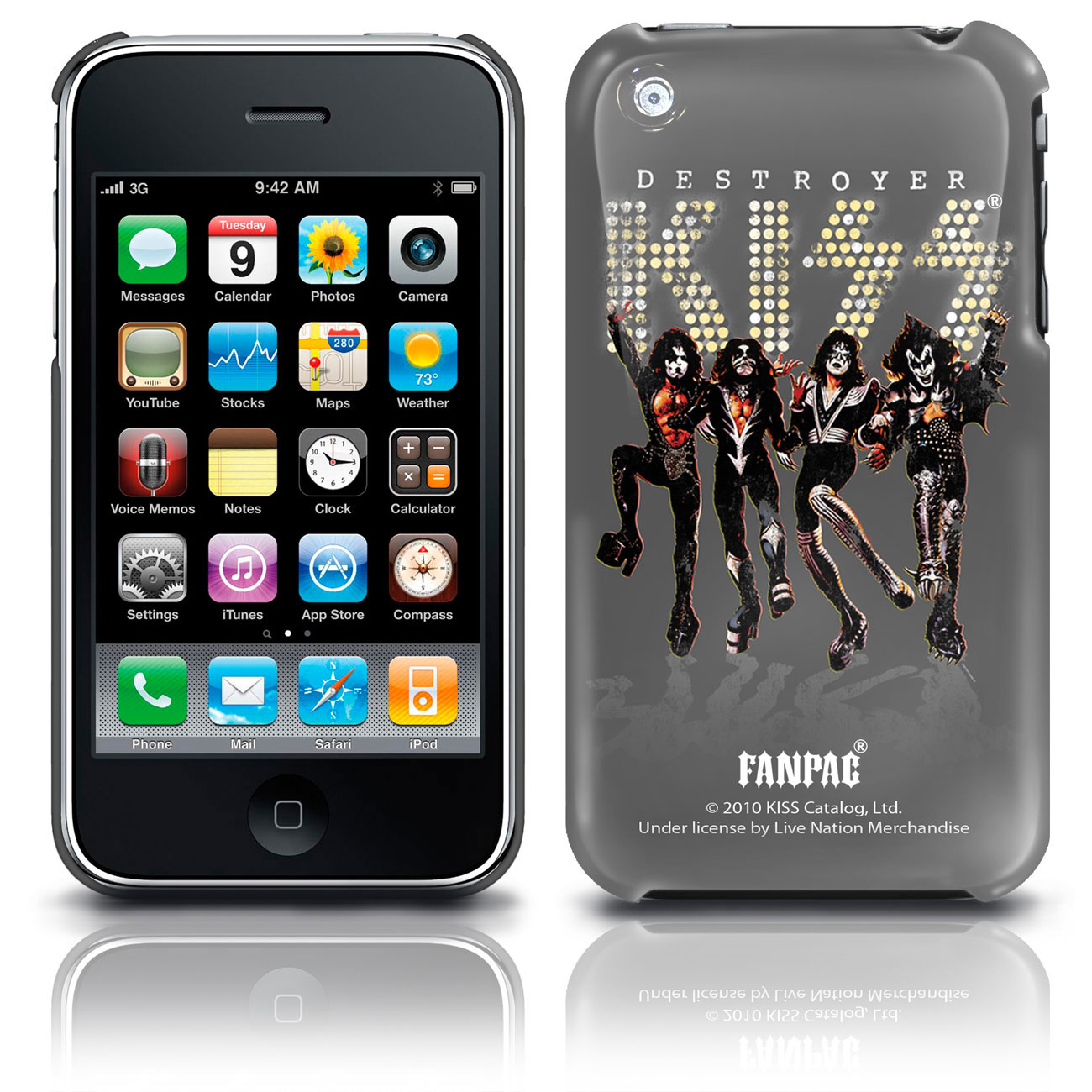 Image of Cover iPhone 3G/GS Kiss - Band Shot. Prodotto ufficiale Emi Music