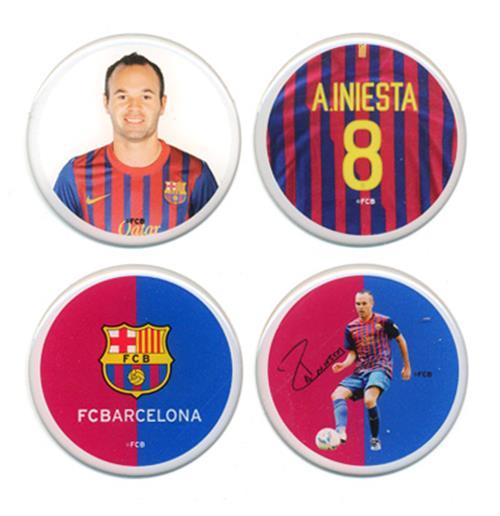 Image of Set Adesivi 3D Barcellona Iniesta
