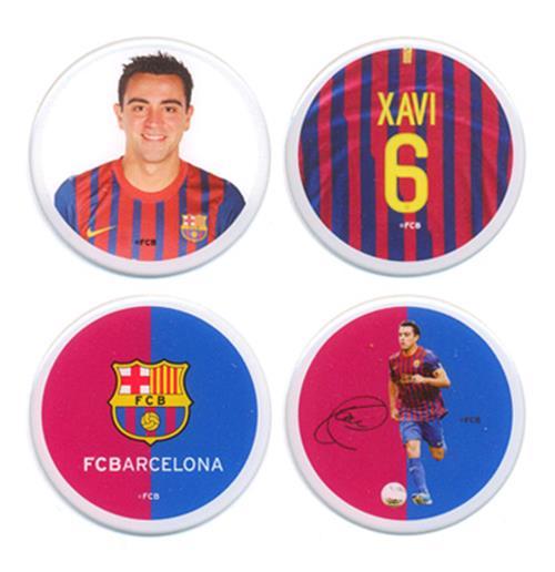 Image of Set di 4 Adesivi Barcellona Xavi