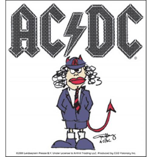 Image of Adesivo AC/DC - Cartoon Angus