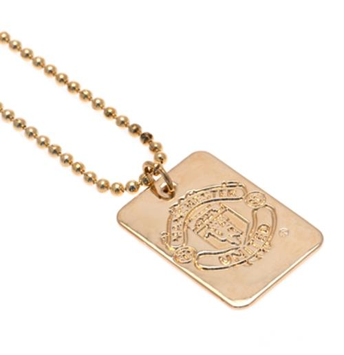 Manchester United F.C. Gold Plated Dog Tag and Chain