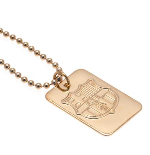 F.C. Barcelona Gold Plated Dog Tag and Chain