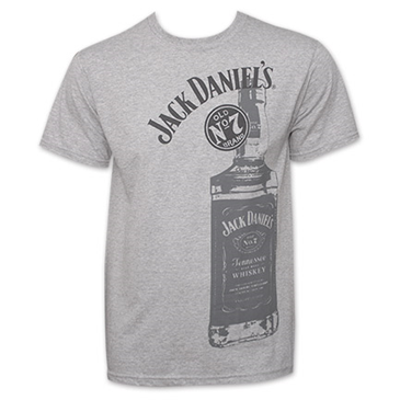Jack Daniels Whiskey Bottle Logo TShirt