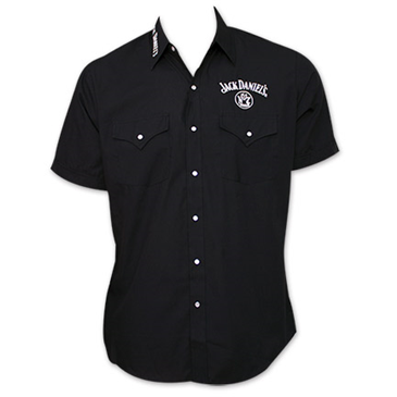 Jack Daniels Whiskey ButtonUp Dress Shirt  Black