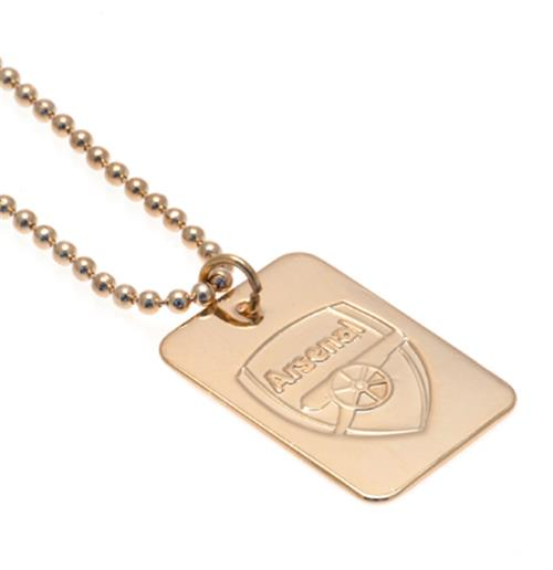 Arsenal F.C. Gold Plated Dog Tag and Chain