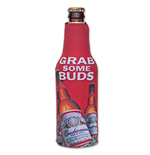 BUDWEISER Grab Some Buds Bottle Suit Koozie