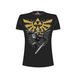t-shirt-nintendo-legend-of-zelda-zelda-warrior-schwarz