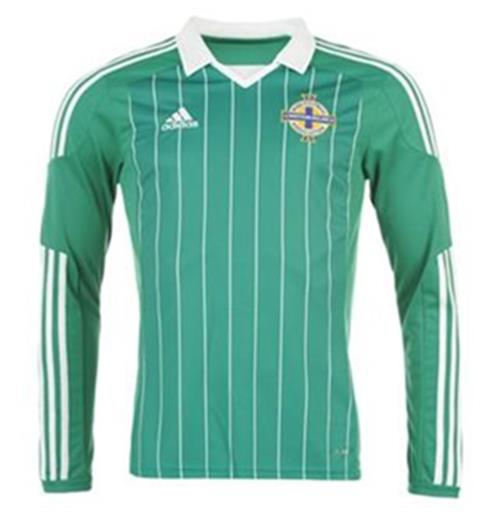201213 Northern Ireland Home Long Sleeved Shirt