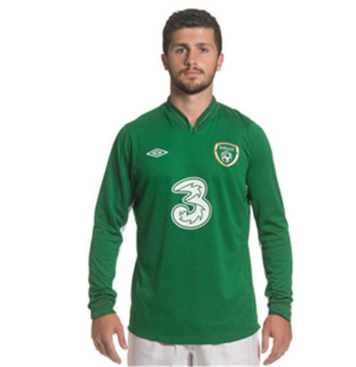 201213 Ireland Umbro Home Long Sleeve Shirt