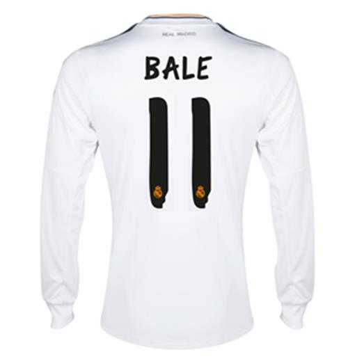 Image of Maglia Real Madrid Adidas Home 2013-14 (Bale 11)