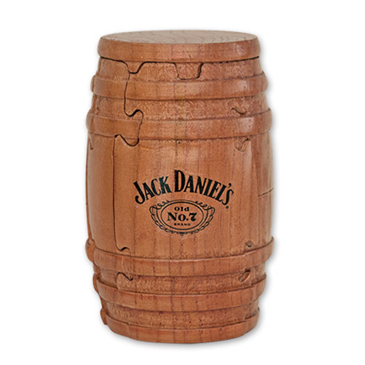Jack Daniels Whiskey Barrel Wooden Puzzle