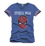T-Shirt Spiderman - College Mask - blau