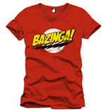 T-Shirt The Big Bang Theory - Bazinga rot