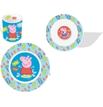 Set Tazza, Piatto Piano e Fondo Peppa Pig