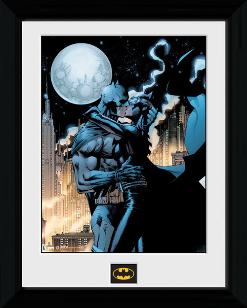 Poster Batman Moonlit Kiss incorniciato