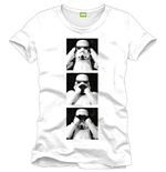 T-shirt Star Wars Trooper Squares white