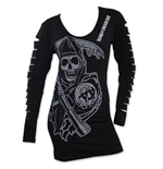 T-shirt manica lunga Sons of Anarchy da donna