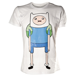 T-shirt Adventure Time - Finn -  bianca - L