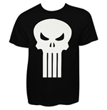 T-shirt Punisher - Plain Jane White Skull