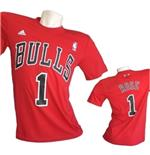 Chicago Bulls T-SHIRT Rose Numerata