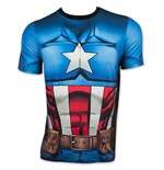 T-shirt uomo costume CAPTAIN AMERICA