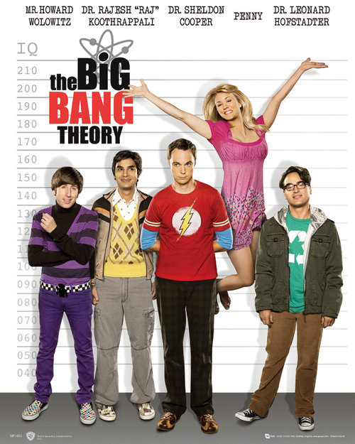 Poster The Big Bang Theory Line Up