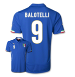 Maglia Italia 2014-15 World Cup Home (Balotelli 9)