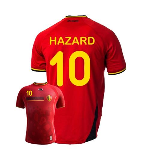 Acquista Maglia Belgio 2014-15 World Cup Home (Hazard 10 ...