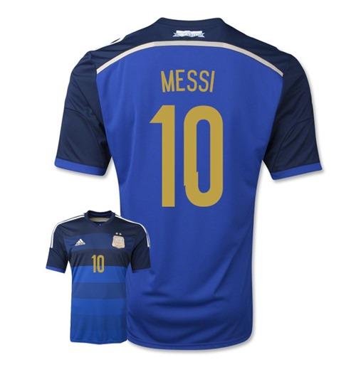 Acquista Maglia Argentina 2014-15 Away World Cup (Messi 10 ...