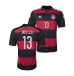 Maglia Germania 2014-15 World Cup Away (Muller 13)