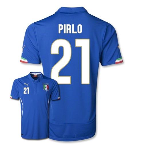 602c805f0 Acquista Maglia Italia 2014-15 World Cup Home (Pirlo 21) Originale