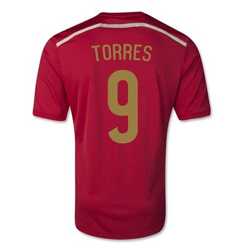 Acquista Maglia Spagna 2014-15 Home World Cup (Torres 9 ...