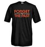 T-shirt girocollo manica corta con stampa flex da intaglio - FORGET THE PAST