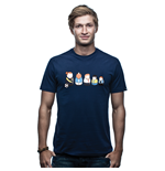 T-shirt Matryoshka - blu scuro