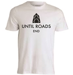 T-shirt in poliestere bianca a sublimazione - Until Roads End