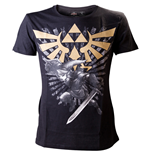 T-shirt ZELDA Gold Link Logo Large