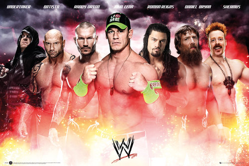 Poster WWE Collage