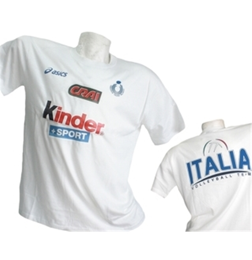 Italia Volley T-SHIRT Fan 2014 Bianca
