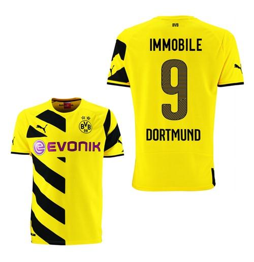 Maglia Borussia Dortmund 2014-15 Home (Immobile 9)