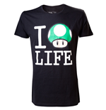 T-shirt NINTENDO SUPER MARIO BROS. I Love Mushroom Life - L