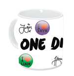 1D - One Direction tazza di ceramica con autografi in confezione regalog (320 ml) 12x9x10 cm