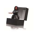 "Darth Maul ""The force shall free me."" figura di ceramica 10,5 cm in  prestigiosa confezione regalo in pelle 13,5x13,5x9 cm"