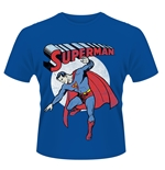 T-shirt Superman Dc Originals Gildan 64000 Superman Immagine Vintage Blu