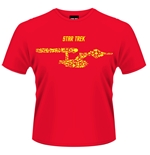 T-shirt Star Trek Ships Of The Line (Rossa)